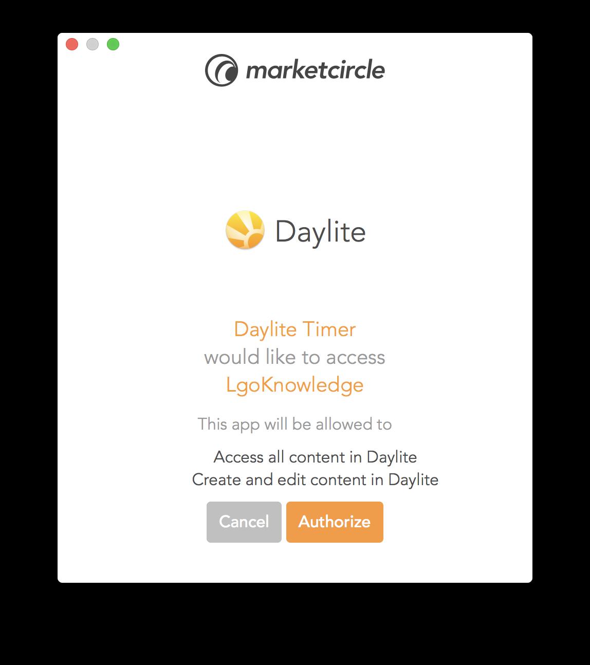 Daylite Timer - LgoKnowledge Ltd